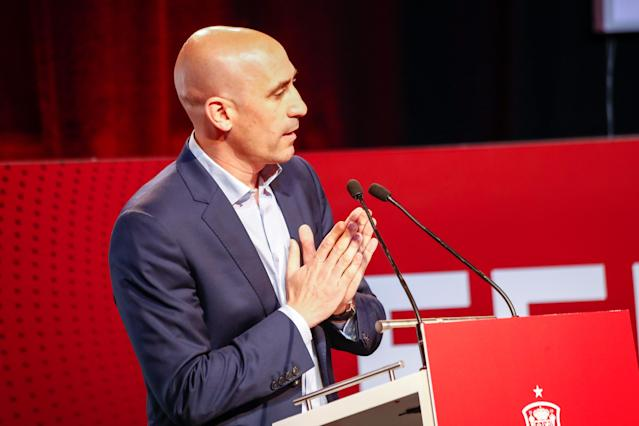 Luis Rubiales, presidente de la RFEF. FotoL Óscar J.Barroso/Europa Press via Getty Images.