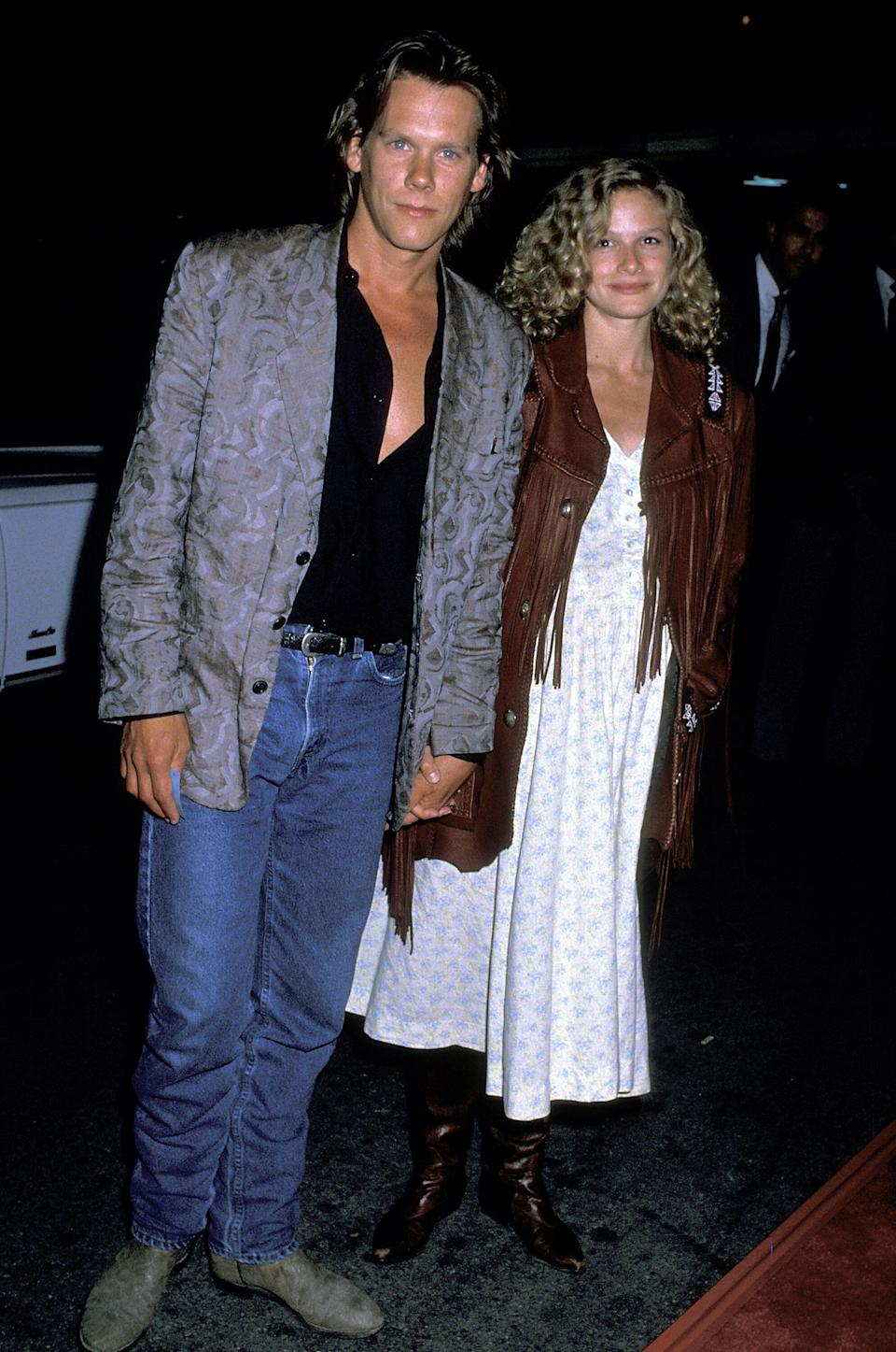 """Bacon and Sedgwick at the """"Ghostbusters II"""" Hollywood premiere."""