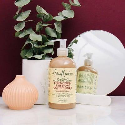 <p>Soften and detangle your hair easily with this <span>SheaMoisture Strengthen and Restore Rinse Out Hair Conditioner</span> ($12).</p>