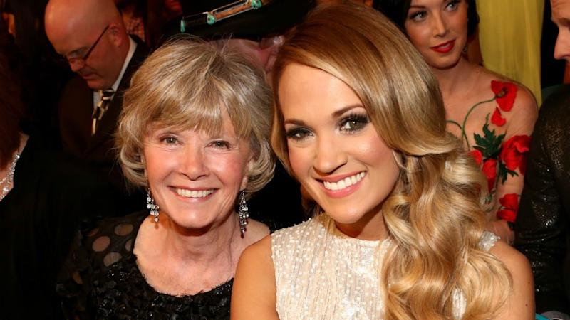 Carrie Underwood's Mom Joins Her On Stage to Rap 'The Champion'