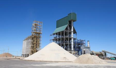 A sand refinery is seen at Vaca Muerta shale oil and gas drilling, in the Patagonian province of Neuquen