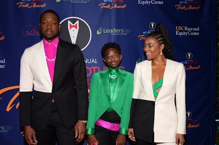 Image: Dwyane Wade, Zaya Wade and Gabrielle Union (Andrew Toth / Getty Images file)