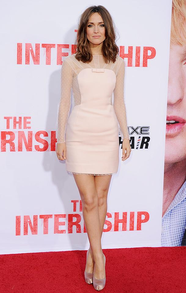 """WESTWOOD, CA - MAY 29:  Actress Rose Byrne arrives at the Los Angeles Premiere """"The Internship"""" at Regency Village Theatre on May 29, 2013 in Westwood, California.  (Photo by Jon Kopaloff/FilmMagic)"""