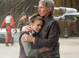 Star Wars TFA Carrie Fisher Harrison Ford