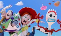<p>Sheriff Woody (Tom Hanks) and Buzz Lightyear (Tim Allen) have found happiness after being given to toddler Bonnie. Their lives change when they are introduced to Forky (Tony Hale), a spork that has been turned into a toy and embark on a road trip adventure alongside old and new friends. </p>