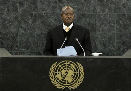 Uganda's President Yoweri Museveni addresses the 68th United Nations General Assembly at UN headquarters in New York