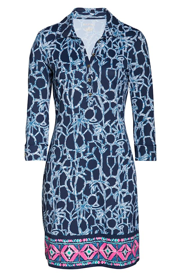 """<p><strong>LILLY PULITZER</strong></p><p>nordstrom.com</p><p><strong>$148.00</strong></p><p><a href=""""https://go.redirectingat.com?id=74968X1596630&url=https%3A%2F%2Fshop.nordstrom.com%2Fs%2Flilly-pulitzer-ansley-upf-50-polo-dress%2F5331650&sref=http%3A%2F%2Fwww.townandcountrymag.com%2Fstyle%2Ffashion-trends%2Fg26522706%2Fbest-dresses-for-older-women%2F"""" target=""""_blank"""">Shop Now</a></p><p>You can never go wrong with a dramatic pop of print like this Lilly Pulitzer shift dress. </p>"""
