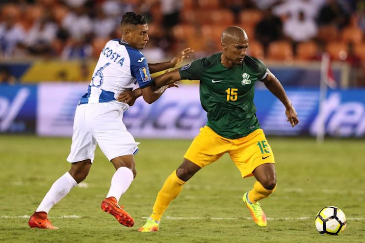 Former Chelsea and France star Florent Malouda (15) started for French Guiana against Honduras, effectively condemning the team to a 3-0 forfeit loss. (Getty)