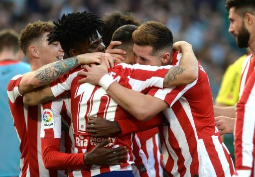 Atletico Madrid's Argentine forward Angel Correa came off the bench to play a star role