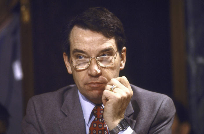 Sen. Chuck Grassley at a Senate Budget Committee hearing in 1985. (Photo: Terry Ashe/Life Images Collection/Getty Images)