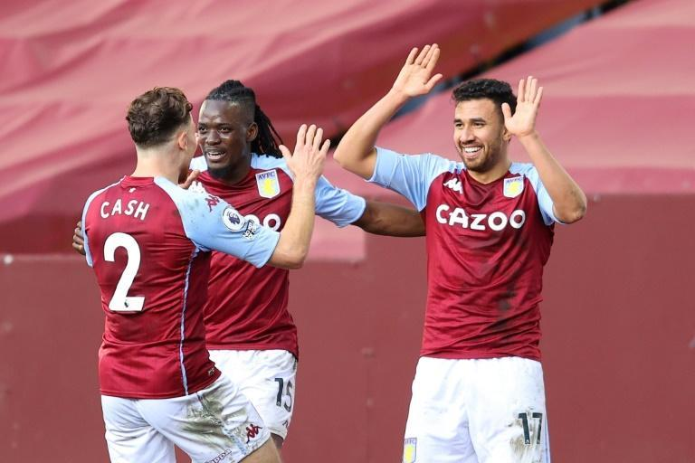 Super sub: Trezeguet (right) came off the bench to score twice for Aston Villa against Fulham