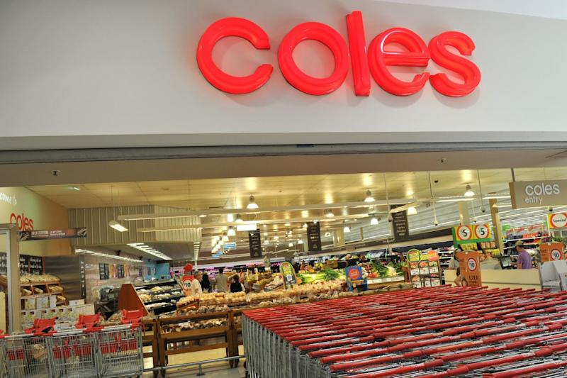 Picture of a Coles supermarket, where customer can collect the Stikeez