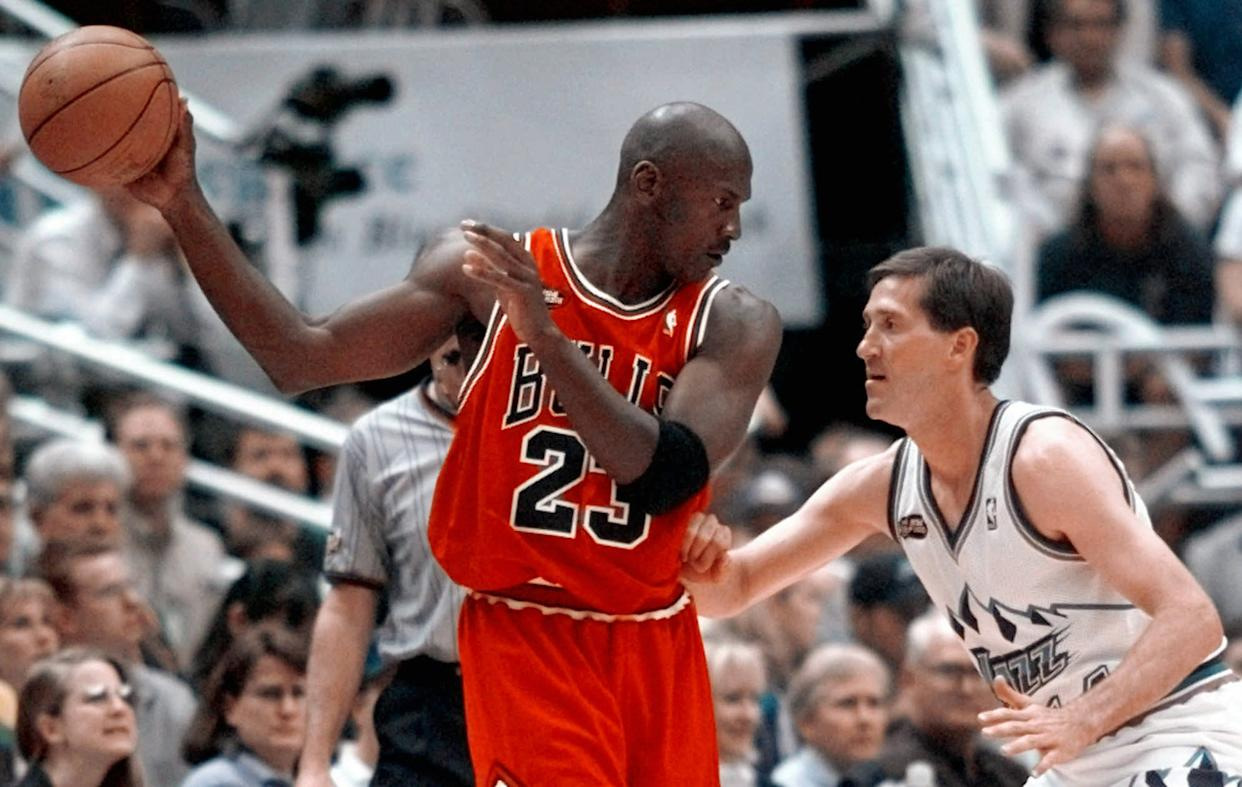 Sports fans are reportedly getting their wish with a new date for a highly anticipated Michael Jordan documentary. (AP Photo/Mark J. Terrill)