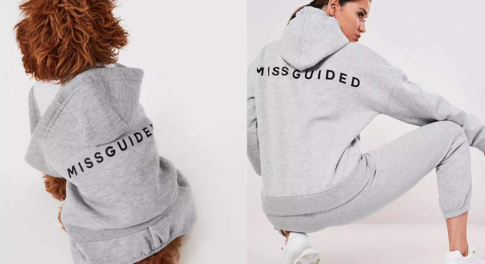 Missguided are selling slogan jumpers for women and pets. (Missguided)