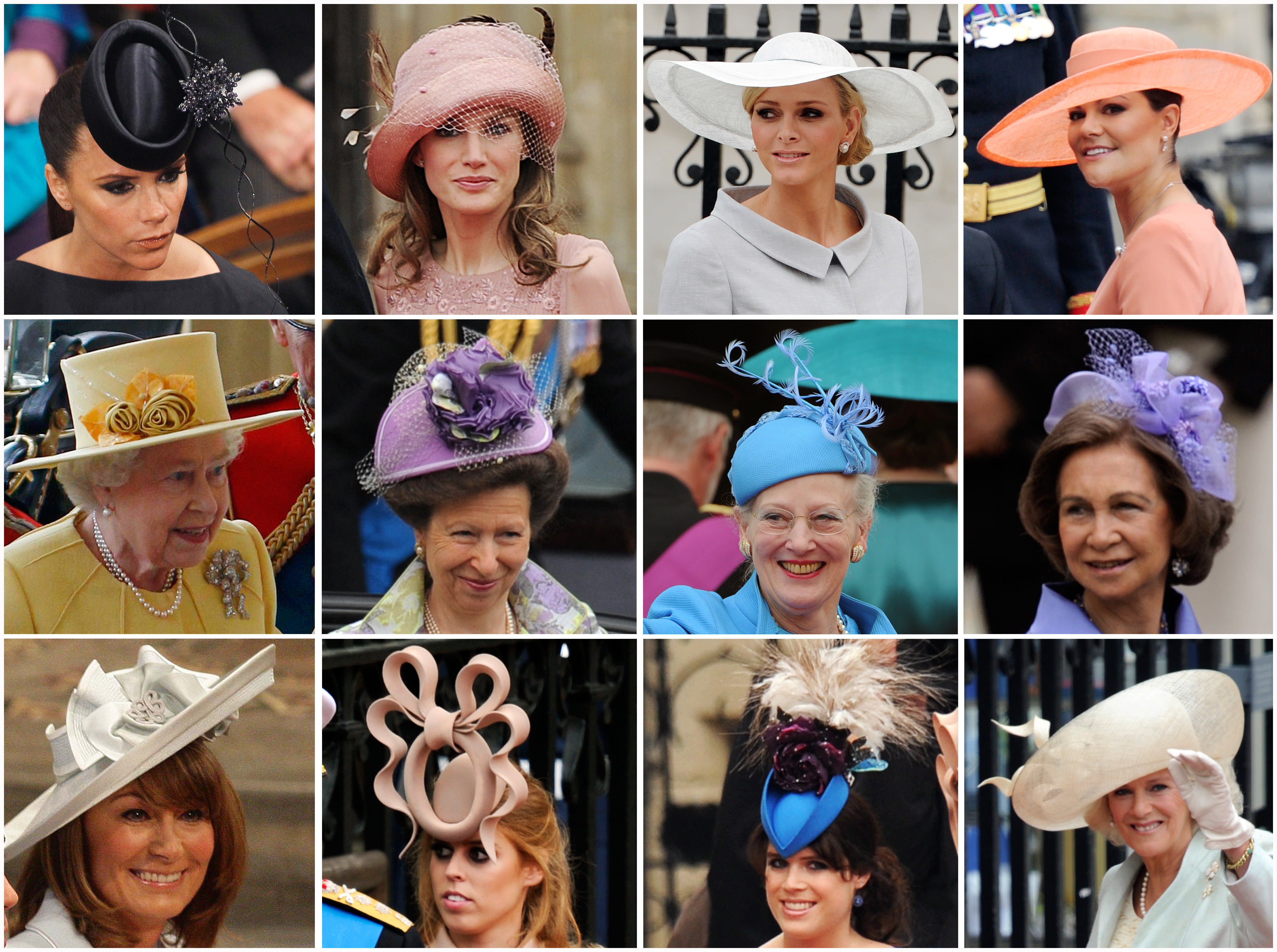 Some of the manyfancy hats and fascinators worn at the royal wedding in 2011. (AFP via Getty Images)