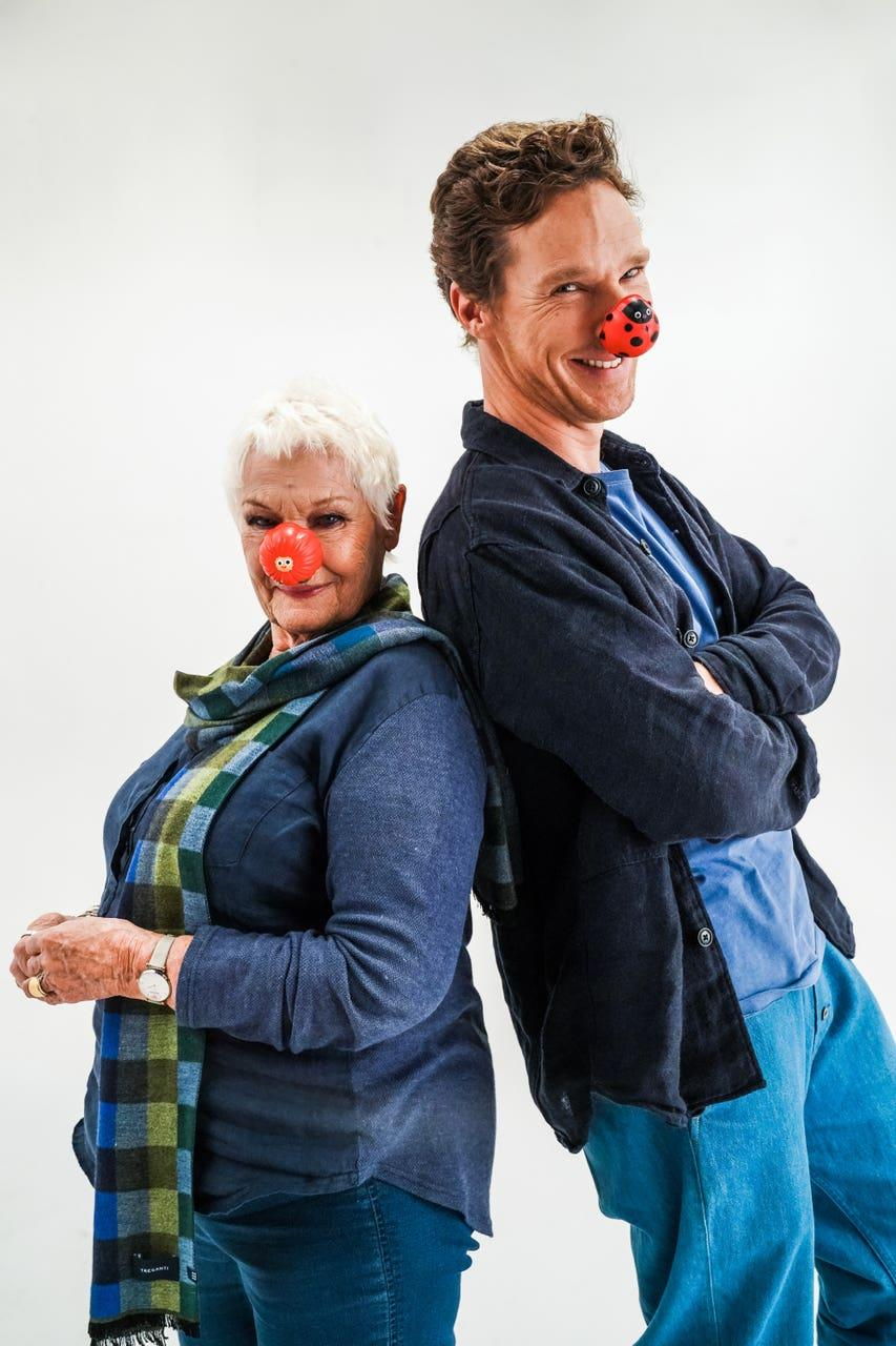 Judi Dench and Benedict Cumberbatch have helped launch Red Nose Day 2021. (Jacqui Black/Comic Relief/PA)