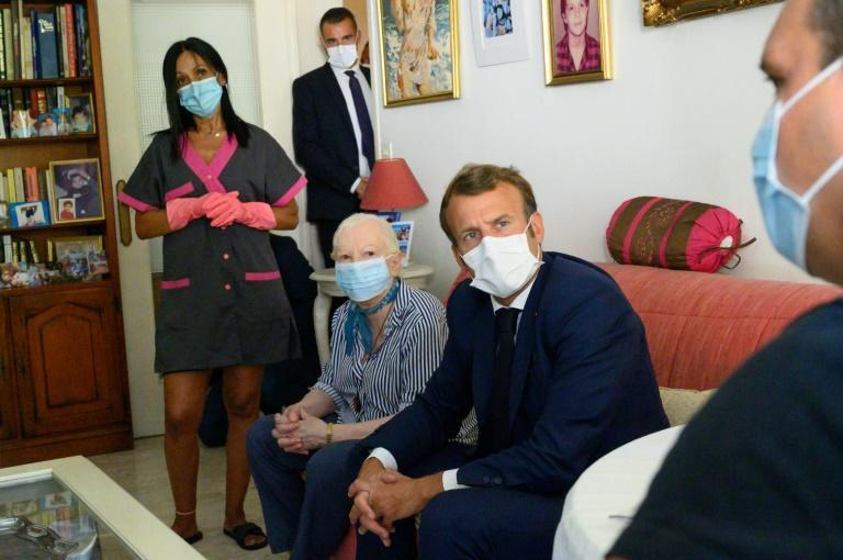 """President Macron urged the French to remain """"vigilant"""" and continue applying anti-infection measures such as keeping a safe distance from others, regular hand-washing, and wearing masks in public spaces"""