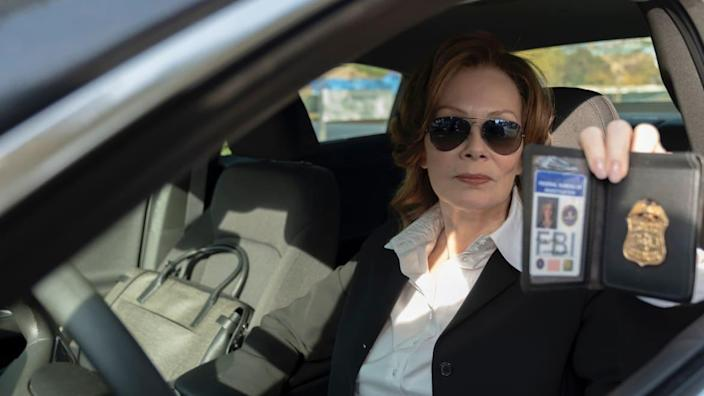 """<div class=""""inline-image__caption""""><p>Jean Smart as Laurie Blake in """"Watchmen.""""</p></div> <div class=""""inline-image__credit"""">HBO</div>"""