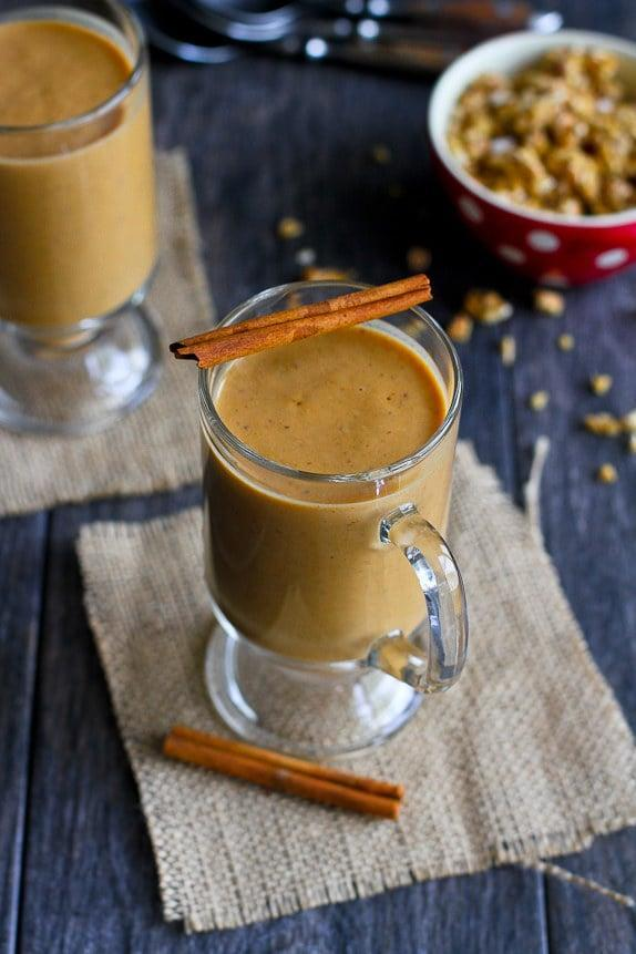 "<p><strong>Get the recipe:</strong> <a href=""http://www.cookincanuck.com/2015/10/healthy-pumpkin-coffee-smoothie-recipe/"" class=""link rapid-noclick-resp"" rel=""nofollow noopener"" target=""_blank"" data-ylk=""slk:pumpkin coffee smoothie"">pumpkin coffee smoothie</a></p>"