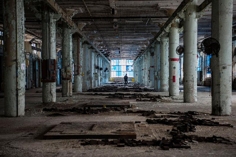 An old building in the Electric Works compound once owned by General Electricthat will now be repurposed into a multiuse campus in Fort Wayne, Indiana.