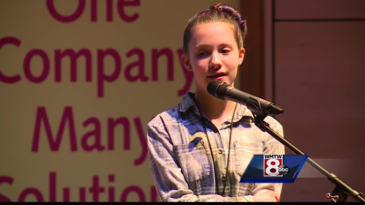 The Maine State Spelling Bee was held at the University of Southern Maine in Portland.