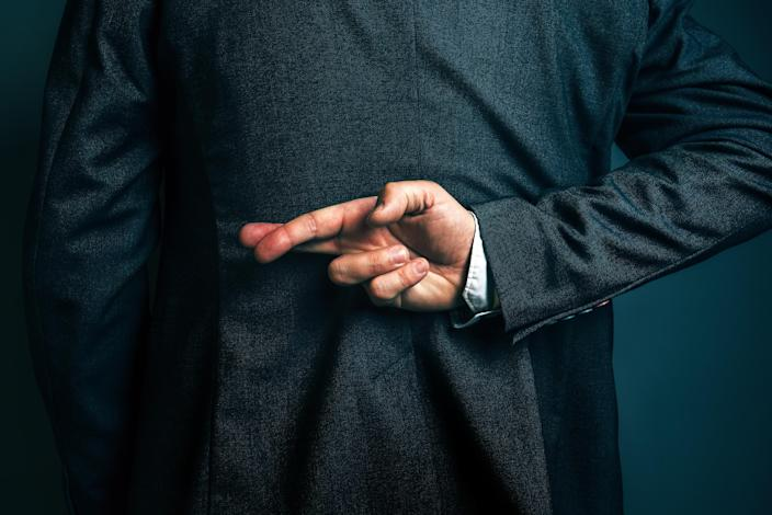 Some 39% of workers said lying is commonplace where they work. Photo: Getty