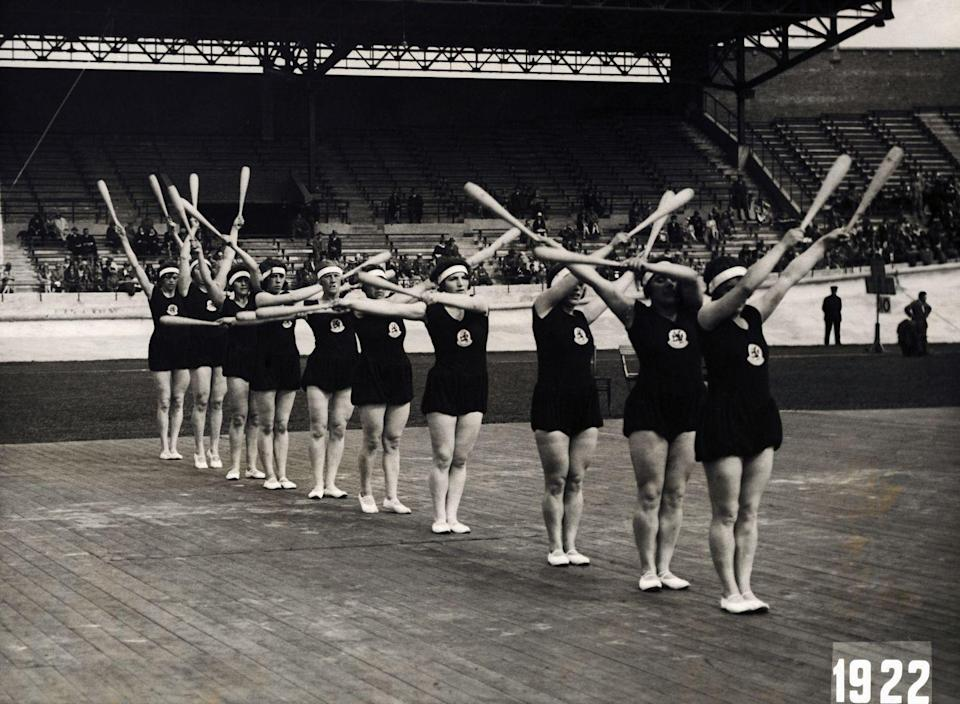 <p>The members of this Dutch team were some of the first female gymnasts to compete in the Olympic Games. </p>