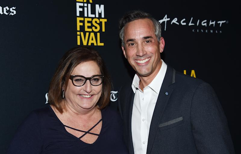 "BEVERLY HILLS, CA - SEPTEMBER 21: Blumhouse Television Co-Presidents Marci Wiseman (L) and Jeremy Gold arrive at the 2018 LA Film Festival - Gala Screening of ""The Body"" at the Writers Guild Theater on September 21, 2018 in Beverly Hills, California. (Photo by Amanda Edwards/Getty Images for Film Independent)"