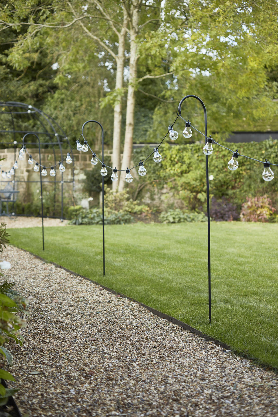 Garden fence ideas: Lights4Fun_Shepherds Hooks Stakes with Festoons