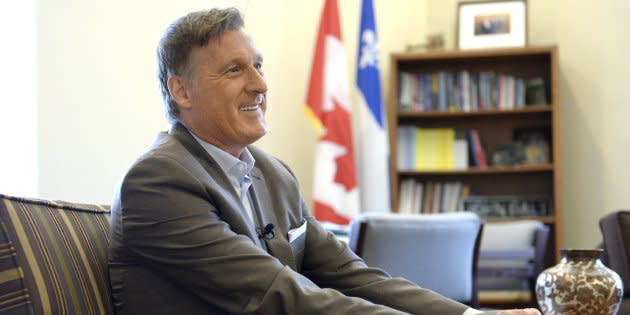 Conservative MP Maxime Bernier is shown in his office on Parliament Hill in Ottawa on Aug. 1, 2018.