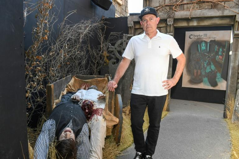 Executive producer and director John Murdy says the 2021 Halloween mazes at Universal Studios Hollywood are a bid to highlight the role of overlooked female characters (AFP/VALERIE MACON)