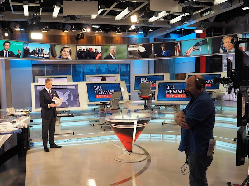 Inside Bill Hemmer's studio in February 2020.