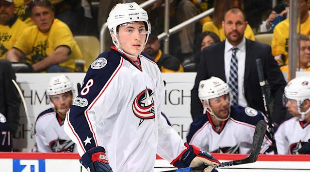 <p>COLUMBUS, Ohio (AP) Columbus defenseman Zach Werenski will miss the rest of the postseason because of a broken cheekbone.</p><p>The Blue Jackets announced the decision Monday, one day after the 19-year-old rookie took a puck to the face on a shot by Pittsburgh's Phil Kessel that opened a gash on his right cheek in the second period.</p><p>He played a couple shifts in the third period with a full facemask, but his eye swelled shut and he had to sit out the rest of the game. He tweeted a photo of his face after the game that showed his eye nearly swollen shut.</p><p>Pittsburgh won the game 5–4 in overtime for a 3–0 lead in the teams' first-round series. Game 4 is Tuesday night.</p>