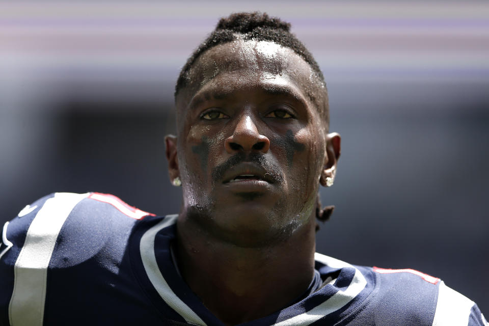 The same police department that welcomed Antonio Brown amid rape allegations has cut him off since Monday's tirade. (Michael Reaves/Getty Images)