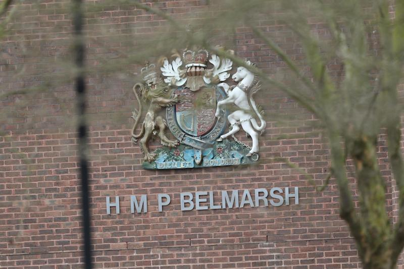 The victim was taken to hospital in a critical condition from HMP Belmarsh (PA)
