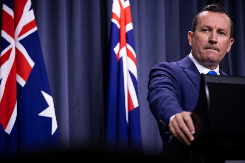 WA Premier Mark McGowan has been critical of NSW's suppression strategy. Source: Getty