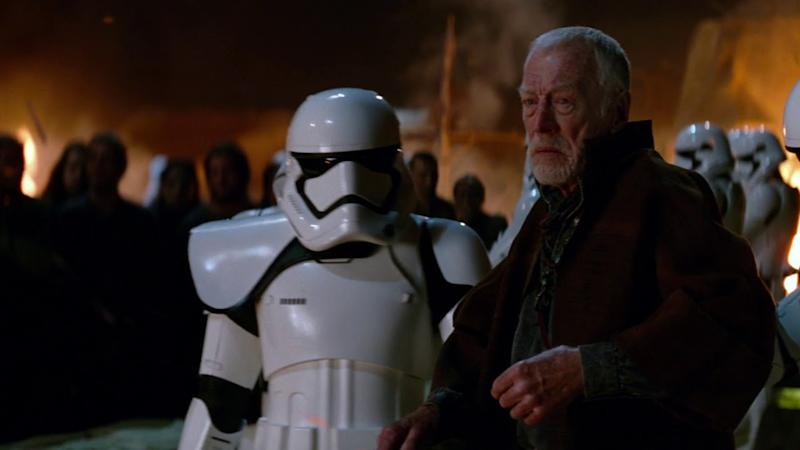 Max von Sydow as Lor San Tekka in <i>Star Wars: The Force Awakens</i>. (Disney)