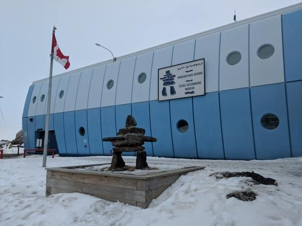 The Inuksuk High School, which teaches kids in Grades 9 to 12. (Kyle Muzyka/CBC - image credit)