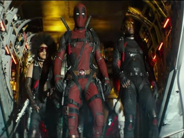 A still from 'Deadpool'