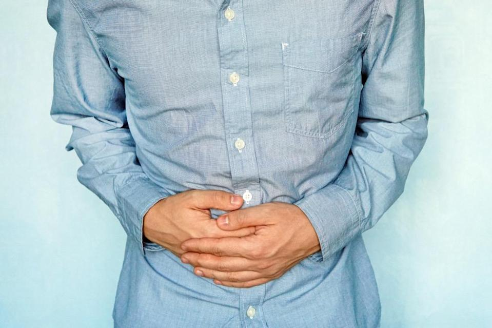 """Finding blood in your stool could be a sign of underlying colon issues, says <strong><a href=""""https://www.orlandohealth.com/physician-finder/monique-dieuvil-md"""" rel=""""nofollow noopener"""" target=""""_blank"""" data-ylk=""""slk:Monique Dieuvil"""" class=""""link rapid-noclick-resp"""">Monique Dieuvil</a>, MD</strong>, family medicine specialist at Orlando Health Physician Associates. Sometimes this symptom can be caused by something benign—such as hemorrhoids—but other times it can be a symptom of colon cancer. It's important to have a regular colonoscopy every 10 years, or more frequently if the doctors find polyps, she says."""