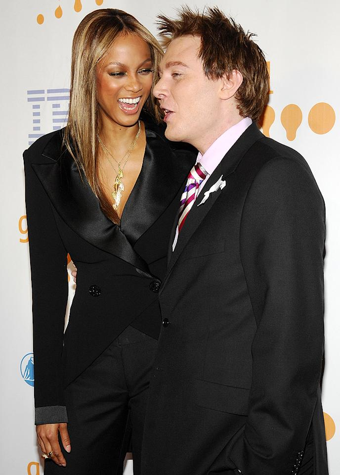 "<p class=""MsoNoSpacing"">How many people can say they bonded over good oral hygiene? That was the case for Tyra Banks and Clay Aiken when the ""American Idol"" runner-up appeared on her talk show in 2006 – and the supermodel bragged afterwards that he had ""the freshest clean smelling breath."" She added, ""I had one of the most fun interviews with him that I have ever had. I am so in love with him."" And he with her! ""I love her to death,"" Aiken tells <em>People</em>. ""For some reason we just clicked when we first met, and we try to stay in touch and see each other whenever we're in town.""</p>"