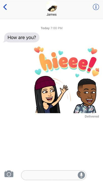 Your Bitmoji sticker can now include a friend with