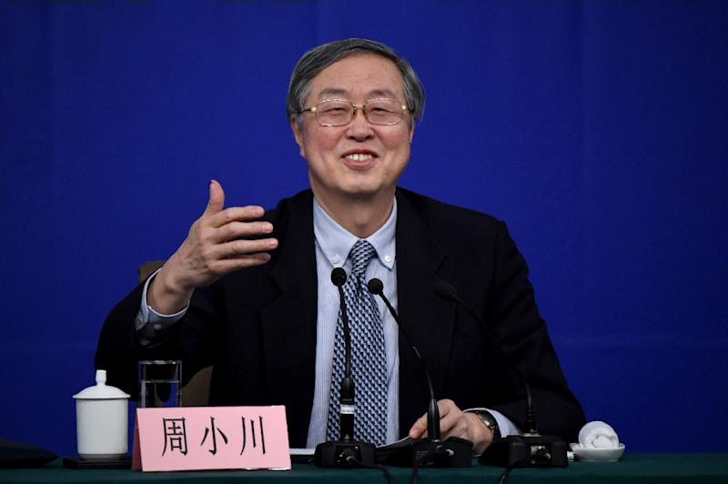 Governor of the People's Bank of China, Zhou Xiaochuan, speaks during a press conference in Beijing, in 2015 (AFP Photo/Wang Zhao)