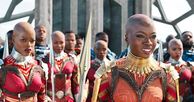 Behold, the Dora Milaje warrior women of <em>Black Panther</em>. (Photo: Marvel/ Walt Disney Studios/Courtesy Everett Collection)
