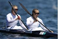 <p>Lisa Carrington walked away with three golds from the kayaking heats. This makes a total of four that she has secured in her career, with another two heats still to go. She remains unbeaten for nine years in the event.</p>