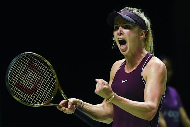 Ukraine's Elina Svitolina had an early exit in her WTA Finals debut last year but has looked a different player this time around (AFP Photo/Roslan RAHMAN)