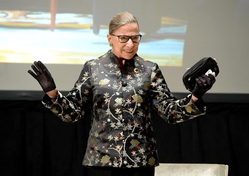 Ruth Bader Ginsburg is serving up hope — and #GymGoals. (Photo: Michael Kovac/Getty Images)