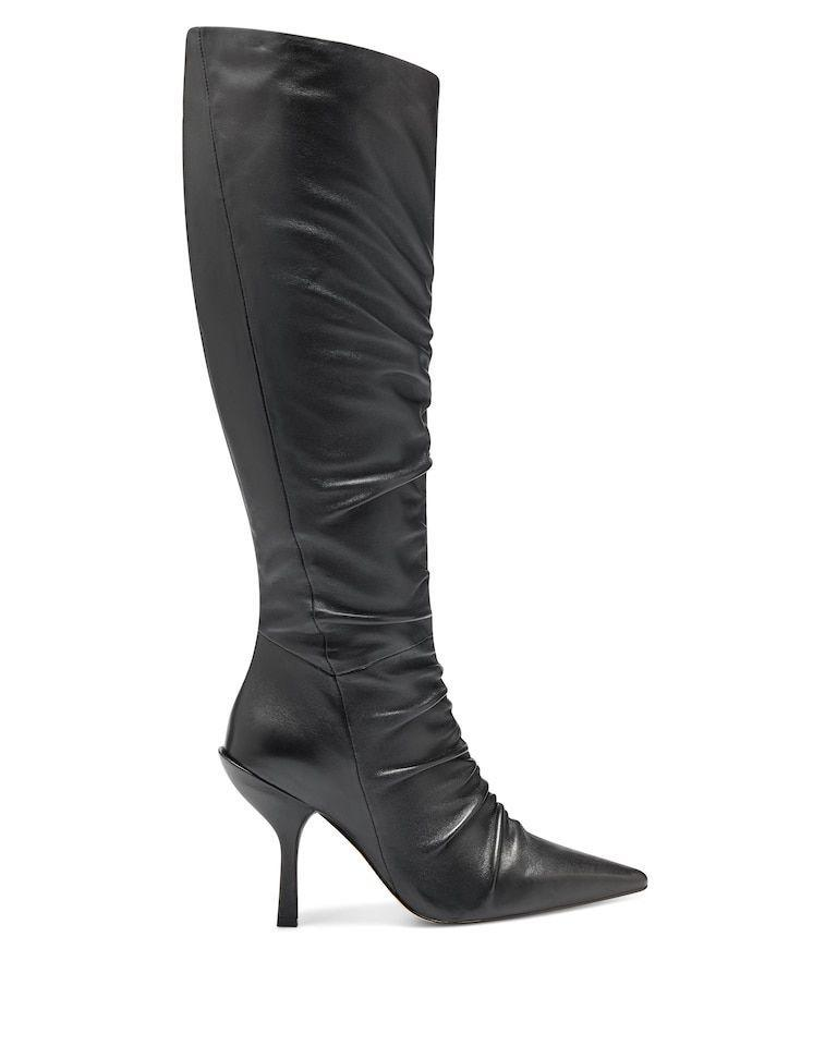 """<p><strong>Vince Camuto</strong></p><p>vincecamuto.com</p><p><strong>$249.00</strong></p><p><a href=""""https://go.redirectingat.com?id=74968X1596630&url=https%3A%2F%2Fwww.vincecamuto.com%2Fen%2Fus%2Fproduct%2Flouise-et-cie-vila-ruched-boot%2F8200000000503148%3FactiveColor%3D001&sref=https%3A%2F%2Fwww.marieclaire.com%2Ffashion%2Fg34382850%2Fwinter-2020-shoe-trends%2F"""" rel=""""nofollow noopener"""" target=""""_blank"""" data-ylk=""""slk:SHOP IT"""" class=""""link rapid-noclick-resp"""">SHOP IT</a></p><p>Pair with a mid-length dress to show off the ruching on this boot. </p>"""