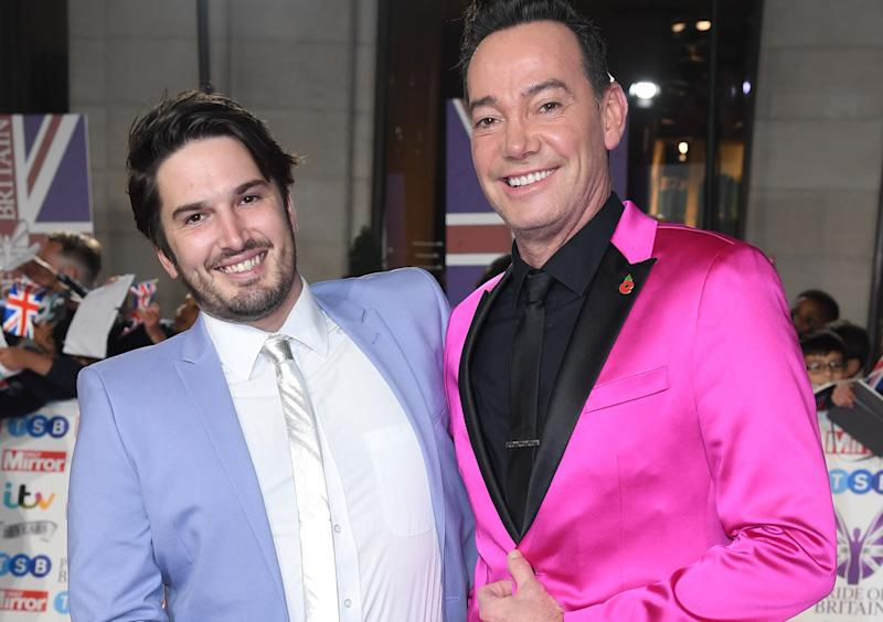 Craig Revel Horwood and his fiance Jonathan Myring. (PA)