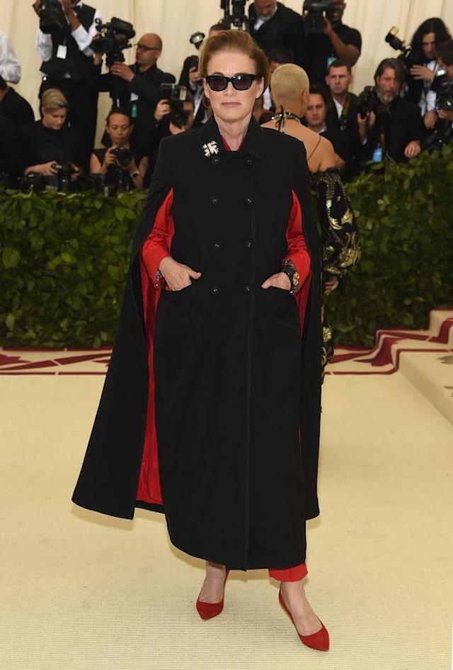 <p>Lisa Love attends the Heavenly Bodies: Fashion & The Catholic Imagination Costume Institute Gala at The Metropolitan Museum of Art on May 7, 2018 in New York City. (Photo: Getty Images) </p>